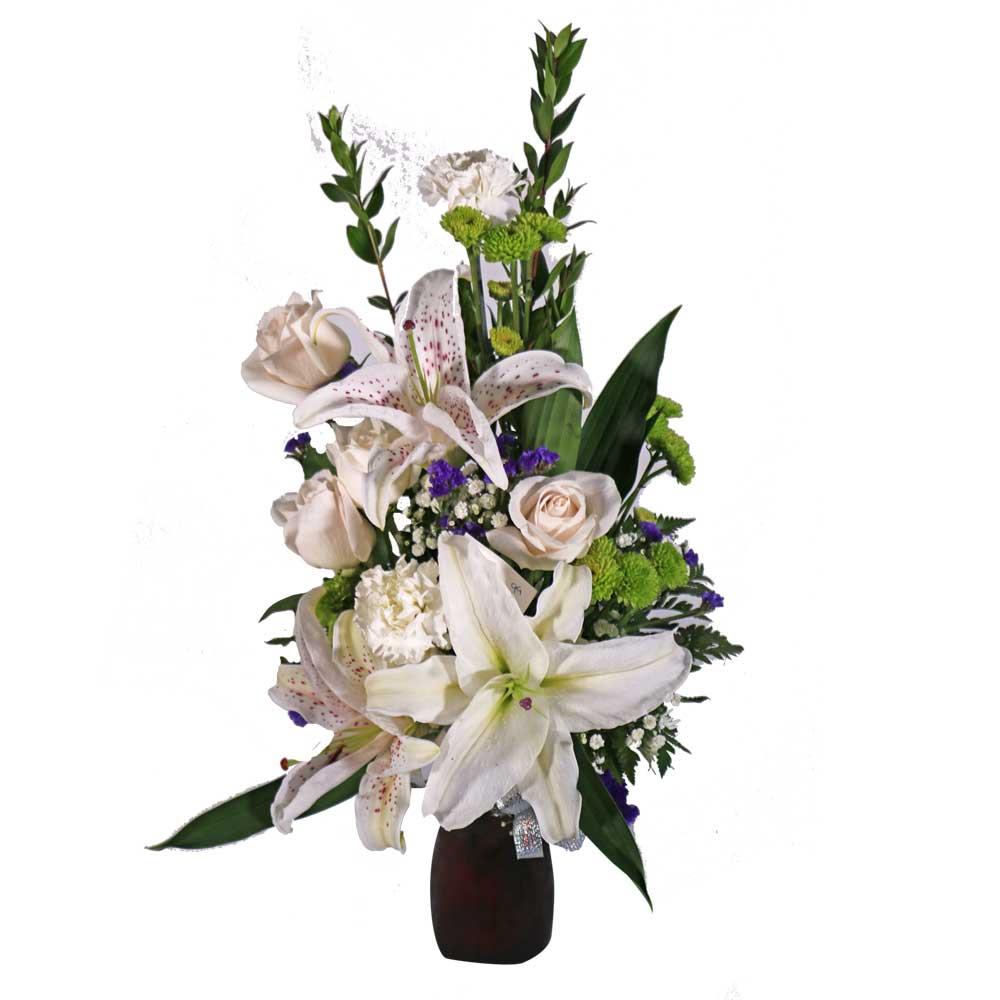 Flower Arrangements El Paso: Roses & Lilies Floral Arrangement 3
