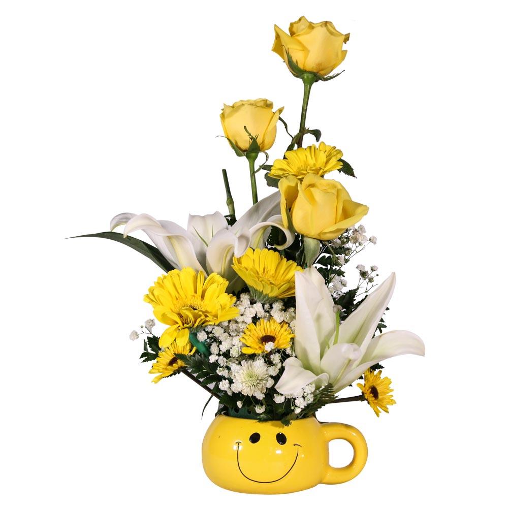 Yellow Cup Floral Arrangement Roel Flowers